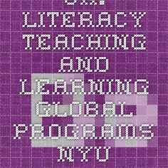 UK: Literacy Teaching and Learning - Global Programs - NYU Steinhardt