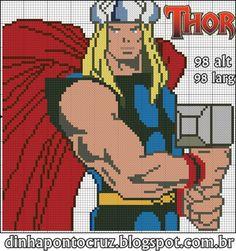Thor by Dinha ponto cruz
