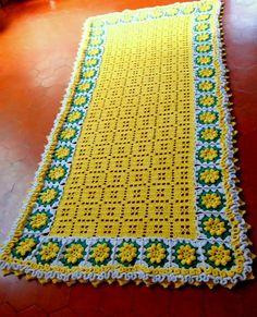 Como aumentar a largura do tapete Retangular em Crochê