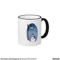 Snowman and Lamppost Ringer Mug
