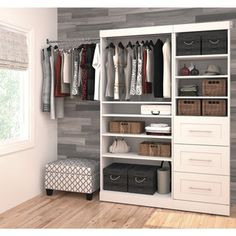 Pur by Bestar 61-inch Classic Kit - Overstock™ Shopping - Great Deals on Bestar Closet Storage