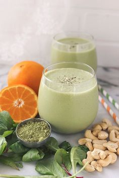 Orange Matcha Smoothie #healthy #smoothie #recipe