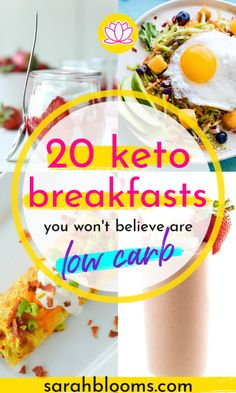 20 Quick + Easy Keto Breakfast Recipes That'll Start Your Fat-Burning Day Off Right – Sarah Blooms Try these Quick and Easy Keto Breakfast Ideas for a hearty start to your day – you won't believe they're low carb! Healthy Recipes On A Budget, Healthy Meal Prep, Diet Recipes, Healthy Food, Frugal Recipes, Family Recipes, Diabetic Recipes, Frugal Meals, Cheap Meals