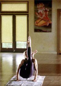 Madonna doing Ashtanga yoga