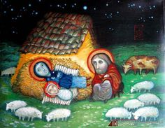 The Nativity by  David Popiashvili