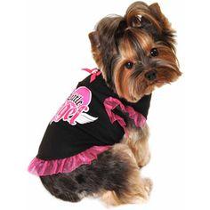 Simply Dog Black Little Angel Tank Dress