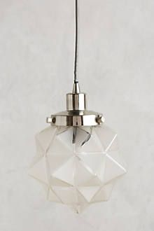 Frosted Facet Star Pendant - anthropologie.com