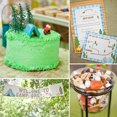 Camping themed party! This is my favorite so far! Perfect theme for a summer birthday!
