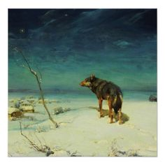 A Lone Wolf Samotny Wilk Posters