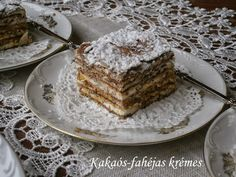 Hankka: Kakaós-fahéjas krémes Tiramisu, Deserts, Food And Drink, Dessert Recipes, Cupcakes, Sweets, Cookies, Baking, Ethnic Recipes