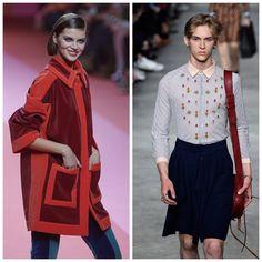 O camisão hiper large dominou a cena no desfile da Prada, no Milão Fashion Week 2015. Na mesma temporada, os modelos da Gucci, vestiram saias evasês e camisas rebordadas com temática floral.