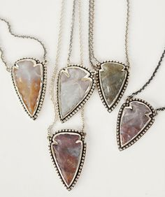 One of a kind Jasper Arrowhead necklaces by Pamela Love, exclusively at Bona Drag.