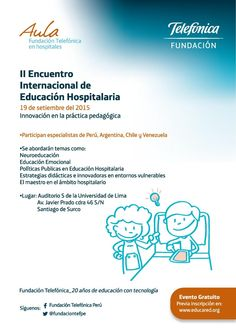 Teresa Clotilde Ojeda Sánchez: II Encuentro Internacional de Educación Hospitalar...