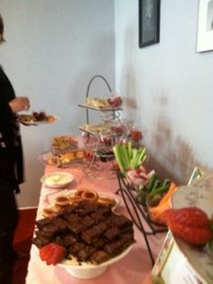 Idea for food display using La Shaun's tea party pics- of course incorporating Ally's colors