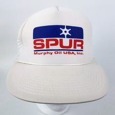 eb9b4907f82d6 Vintage Spur Murphy Oil USA Trucker Hat Size  One Size Adjustable snapback  Clean
