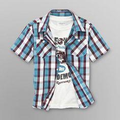 Toughskins- -Boy's Collared Shirt & T-Shirt - Race Week- Sears
