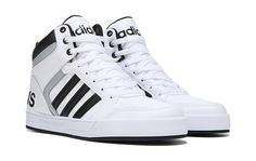 Mens Neo Raleigh High Top Sneaker - Adidas White Sneakers - Latest and fashionable shoes - adidas Men's Neo Raleigh High Top Sneaker Shoe Mens High Top Shoes, Men's High Top Sneakers, Mens High Tops, Black Sneakers, Sneakers Adidas, Mens Fashion Shoes, Sneakers Fashion, Fashion Boots, Adidas High Tops