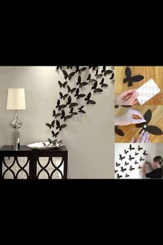 Butterfly wall decorations DIY