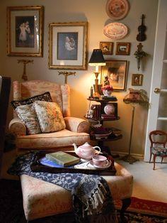 C o t t a g e . C h a r m #ingles #salon #clasico #interiores #decor