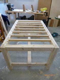 building a DIY harvest table with Ana White plans