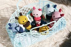 Bug and butterfly crochet rattles | Cherry Frog