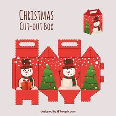 Discover thousands of copyright-free vectors. Graphic resources for personal and commercial use. Thousands of new files uploaded daily. Christmas Makes, Kids Christmas, Christmas Crafts, Christmas Decorations, Xmas, Diy Arts And Crafts, Paper Crafts, Paper Toy, Printable Box