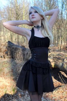 International model and TAGGERS cover girl Maria Amanda Schaub. Also featured in: Kneesocks & Napalm Gothic Outfits, Gothic Dress, Lolita Dress, Gothic Lolita, Alternative Mode, Alternative Fashion, Dark Fashion, Gothic Fashion, Latex Fashion