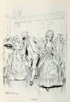 """ Is that he? "" Hugh Thomson illustration for Fanny Burney's Evelina"