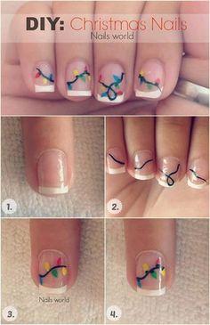 Easy holiday nails ideas