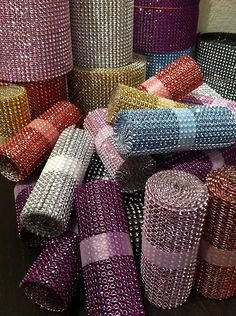 ~~ Diamond Rhinestone Ribbon Mesh Wrap Wedding Home Decorations Supplies ~~