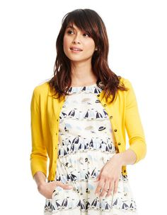 See how cute the yellow cardigan is with the sailboat dress? Have other uses for a yellow cardigan...and they are, for some reason, hard to find!