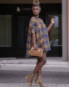 African print Mini dress with free headwrap / Ankara / African Clothing / African Fashion / Ankara Clothing / African Dresses African Fashion Ankara, African Fashion Designers, African Print Dresses, African Print Fashion, Africa Fashion, African Dress, Fashion Prints, African Prints, Ankara Gown Styles