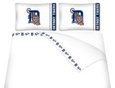 DETROIT TIGERS MICRO FIBER SHEET SET QUEEN TIGERS
