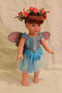 Fairy Princess dress Fits 18 American Girl by OurGrandmasTrunk