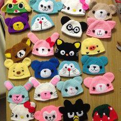 20 ideas crochet doll hat beanie for 2019 Crochet Key Cover, Crochet Cap, Crochet Bunny, Love Crochet, Crochet For Kids, Crochet Doll Clothes, Crochet Baby Shoes, Crochet Dolls, Crochet Beanie Hat