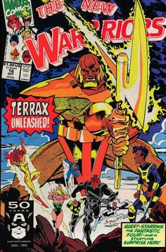 New Warriors # 16 by Mark Bagley & Larry Mahalstedt