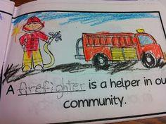 The Adventures of a Kindergarten Teacher: Community Helpers Community Helpers Kindergarten, Kindergarten Social Studies, Kindergarten Themes, Classroom Community, Kindergarten Science, Preschool Ideas, Community Jobs, Community Workers, School Community