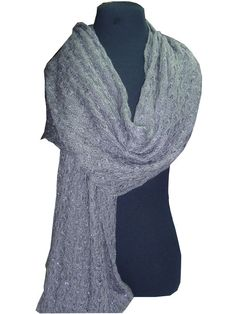 long woolen silver thread knitted scarf_fashion woman accessories.