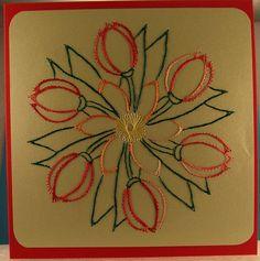 Blumen 24 - Tulpen-Strauß - Doppelkarte mit Umschlag 13,5 x 13.5 cm - Motiv gefunden auf Pinterest