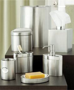 Closeout Hotel Collection Hotel Modern Brushed Stainless Steel