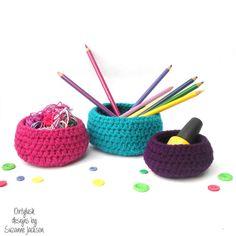 Contemporary storage bowl baskets set