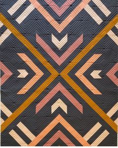 Radiance a PDF modern quilt pattern in two sizes by Heather | Etsy