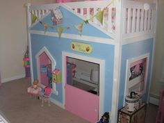 Finished Playhouse Loft Bed