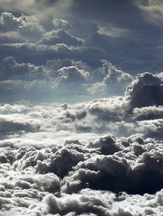 Clouds. Above the clouds, great view, great spiritual thoughts live here.