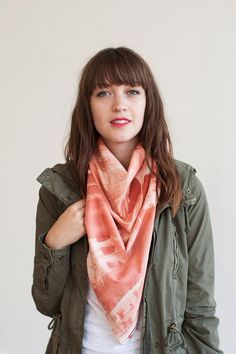 Take your t-shirt and jeans to the next level with this simple tip: add a scarf! #etsyfind