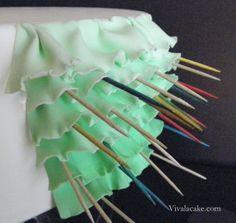how to make ruffles on a cake | Ruffles Ruffles And More Ruffles!!! tutorial: how to make fondant ...