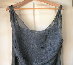 pianissimo.  asymmetric top knit in lace weight.  love the neckline and straps.