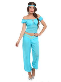 Jasmine Costume Tutorial. I like how she made it modest. | Dress-up u0026 Princess Tutorials | Pinterest | Costume tutorial Costumes and Tutorials  sc 1 st  Pinterest & Jasmine Costume Tutorial. I like how she made it modest. | Dress-up ...