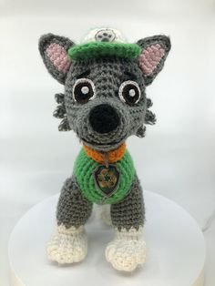 Paw patrol crochet pattern. Completely new 8 patterns to make 8 Paw Patrol characters: Chase, Rubble, Rocky, Skye, Zuma, Marshall, Everest, and Tracker. Old patterns with bad reviews are removed from sale. Toy will be about 8.5-10 tall if you use yarn weight #4 (medium) and hook 2.75