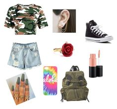 """Untitled #16"" by aaliyahbasant on Polyvore featuring Chicnova Fashion, Converse, Embers Gemstone Jewellery, Oscar de la Renta, MAC Cosmetics and Burberry"